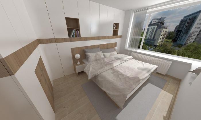 návrh interiéru - spalna