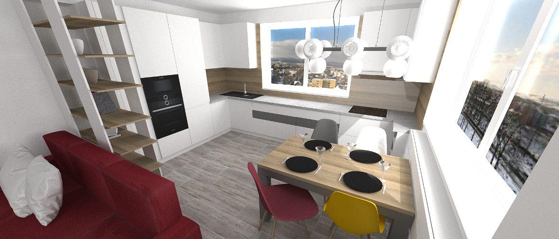 kuchyna spojena s obyvackou