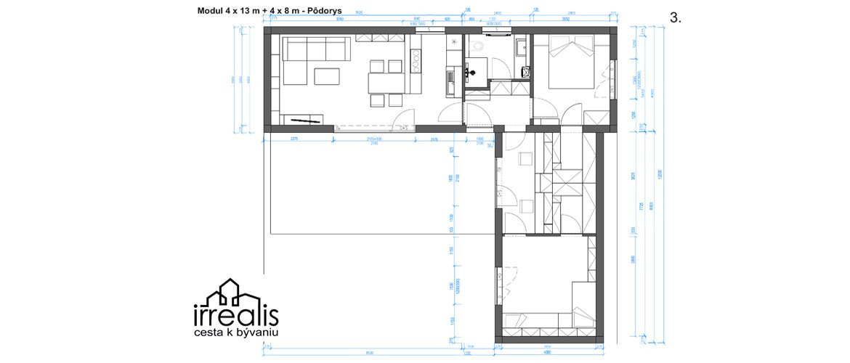 modularne eko-domy podorys