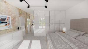 Biela lesklá skrina do spálne