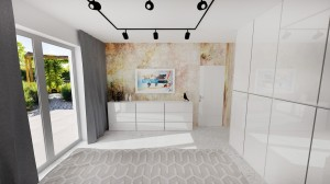vizualizácia spálne v Bratislavskom byte