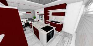 dizajnová kuchyn s pultom