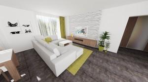 dizajn obývačkovej steny