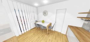 Kuchyna biela s pracovnou doskou dub
