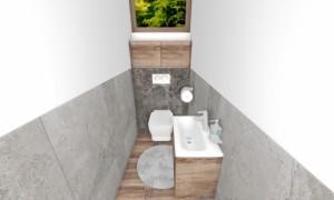 Obklad šedý mramorový do wc