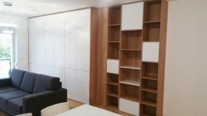 knižnica do obývačky na mieru