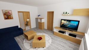 obývačka dizajn