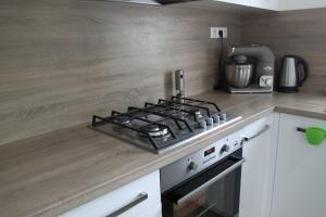 plynový sporák v novej kuchyni