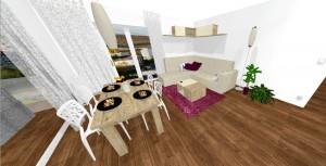 """jedálenský stôl s výraznou drevokresbou """"Canyon dub"""