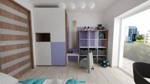 Detská izba vo fialových odtienoch