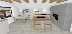 Kuchynský pult v priestory