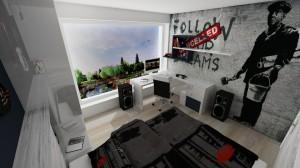 študentská izba pre chlapca