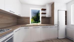 kuchyna biela leskla navrh