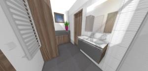 keramický kúpeľňový obklad s 3D dekorom Vlny