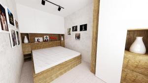 postel s drevom