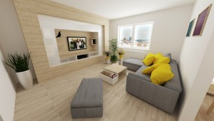 vizualizácia obývačka