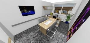 pracovňa a konferenčná miestnosť s exkluzívnym nábytkom