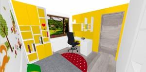 žltá farba v detskej izbe