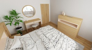 drevena komoda v spalni